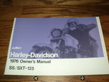 1976 HARLEY  AERMACCHI  SS-125CC  OWNERS MANUAL AMF