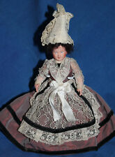 """Vintage Celluloid Normandy French Girl Doll, 9"""""""