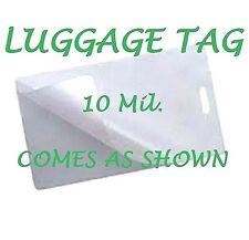 10 Mil LUGGAGE TAGS Laminating Pouches Sheets with Slot 2-1/2 x 4-1/4 100 pk