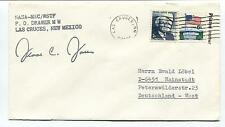 Anni '70 NASA MSC WSTF Las Cruces New Mexico Deutschland West Space Cover SIGNED