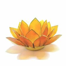 Beautiful Orange 2nd Chakra Lotus Flower Tea Light Candle Holder