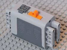 LEGO - Electric Battery Box 4 x 11 x 7 w/ Orange Switch - Lt & Dk Gray Covers