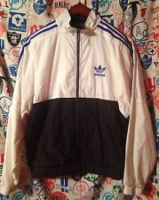 Vintage adidas Full Zip-Up Track Jacket Windbreaker • Medium • Trefoil Firebird