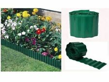 15CM X 30M GREEN FLEXIBLE PLASTIC GARDEN GRASS LAWN EDGE EDGING BORDER PATH DRIV
