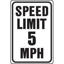 NEW HY-KO USA HW-23 ALUMINUM 12 X 18 SPEED LIMIT 5 MPH HIGHWAY SIGN 6718787