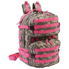 B&F Systems LUBPPDC Heavy Duty Digital Camo Backpack with Pink Straps