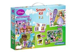 Disney Smart Kit 7in1 Puzzle Domino Memo Quizzy Cubes Mini Mouse Princess Sophia