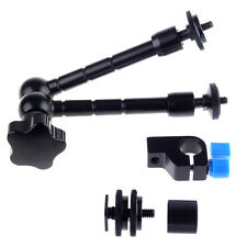 "11""/28cm Articulating Magic Arm for Mounting HDMI Monitor LED Lights+Rod Clamp"