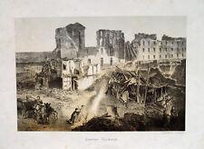 Straßburg Trümmer Deutsch Französischer Krieg Finkmatt Schaufel Asche Feuer