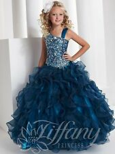 Sequins Ball Gown Long Little Girls Pageant Dresses Kids Flower Girl Dress-AAA