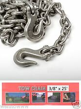 "3/8"" X 25ft Tow Chain Automotive Truck Towing Log Chain"