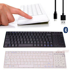 Wireless Bluetooth 3.0 Mini Keyboard Touch Pad Mouse Per iOS Windows Android