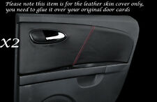 RED STITCH 2X REAR DOOR CARDS LEATHER COVERS FITS SEAT LEON TOLEDO 06-12