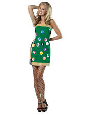 Ladies Green Pool Table Fancy Dress Sport Ball Game Player Costume 8-12 New BN