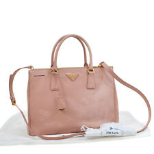 100% Authentic PRADA Logos 2way Hand Bag Pink PVC Italy Vintage Purse V06016