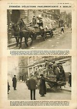 Election Berlin Germany Allemagne/Cruisers Paquebot Northern Pacific 1919 WWI