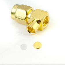 10PCS SMA Male Plug RF RG402 Adapter Connector 90 Degree Right Angle Gold Plated