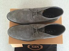 Brand New w Box AUTHENTIC Tod's Grey Suede Chukka Boots For Men - Size US 11