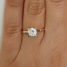 1 CT ROUND CUT DIAMOND ENGAGEMENT RING ENHANCED SI1 D 14k WHITE GOLD 257810