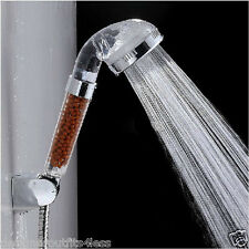 Pure Water Filter Purifier Bathroom Rain Shower Head Handheld Hose Ionic Ceramic