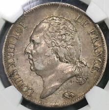 1819-A NGC XF 40 FRANCE 5 Francs Louis XVIII Coin TOP POP 1/0 (16103101C)