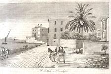 1840 Napoli Il dattilo a Posillipo incisione su rame