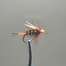 6 pack Bead Head Prince Nymph fly fishing lure handmade