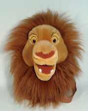Disney Collectible Adult Simba Head Backpack 3D Plush Kids Play Travel Toy Bag