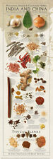 Regional Spices and Culinary Herbs India and China Keating Cooking Poster 12x36