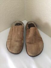 UGG Australia Men's Slip On Clogs Mules Casual Tan Leather Size US 12