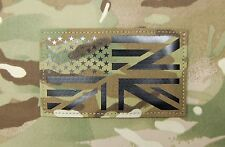 "Large Infrared Multicam IR US/UK Flag Patch 5"" x 3"" Special Forces USSF UKSF"