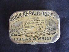 Vintage Morgan & Wright Quick Repair Outfit Tin  Antique Bicycle Tube Repair Kit