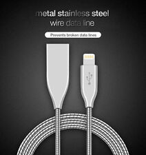 Metal Micro USB Fast Lightning Braided Data Cable Charging & Syncing For iPhone