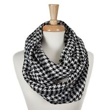 New Black/White Houndstooth Lightweight Infinity Scarf