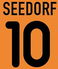 Inter Milan Seedorf Nameset Shirt Soccer Number Letter Heat Print Football A 00
