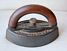 RARE ORIGINAL ANTIQUE SAD IRON TAILOR'S HOT COLE COLEBROOKDALE IRON CO.