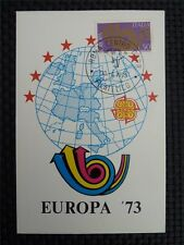 ITALIA MK 1973 EUROPA CEPT MAXIMUMKARTE CARTE MAXIMUM CARD MC CM c762