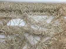 Gold Root design Embroider With Sequins On A Mesh Lace -yard
