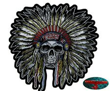 INDIAN HEAD Back Patch Aufnäher Aufbügler Biker Motorrad Rocker Chopper Harley