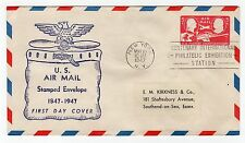 USA: 1947 US AIR MAIL STAMPED ENVELOPE FIRST DAY COVER (C20456)