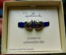 New Connections Hallmark Stainless Steel Bead Sister to Sister Friend 4 Life