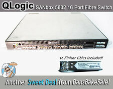 QLogic SANbox 5602 16 Port Fibre Switch w/16 Finisar G-Bics - All Ports Licensed