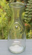 "Vintage Paul Masson 10"" Glass Wine Carafe Embossed Since 1852 Decanter Pitcher"