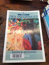 Des inconnues / Patrick Modiano / éditions Feryane