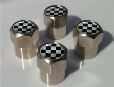 MASONIC CHEQUERED FLAG ALUMINIUM TYRE VALVE CAPS ALLOY FOR CAR TIRE WHEEL