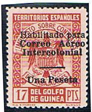 Guinea Española. Sello sobrecargado. Edifil 259 L**. Valor de catalogo 153 €
