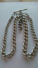 Double Albert Solid Silver pocket watch chain.nice one.