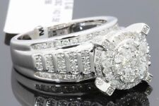 10K WHITE GOLD 1.66 CARAT WOMENS REAL DIAMOND BRIDAL WEDDING ENGAGEMENT RING