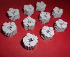 Lego (92947) 10 Rundsteine 2x2x1 geriffelt, in hellgrau aus 2506 9499 7066 60098