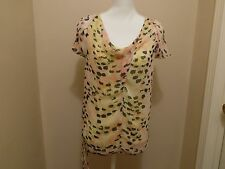 Simply Vera Vera Wang Blouse Top Size XS Multi Color